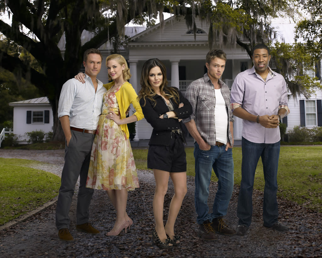 """<strong>6. """"<a href=""""http://tv.yahoo.com/hart-of-dixie/show/47459"""">Hart of Dixie</a>""""</strong><br><br> This has totally become our guilty pleasure even with all of the stupid town holidays, terrible Southern accents, and rom-com clichés. We're hooked on this implausible melodrama like some other people are on """"<a href=""""http://tv.yahoo.com/one-tree-hill/show/35279"""">One Tree Hill</a>."""" We're not proud."""