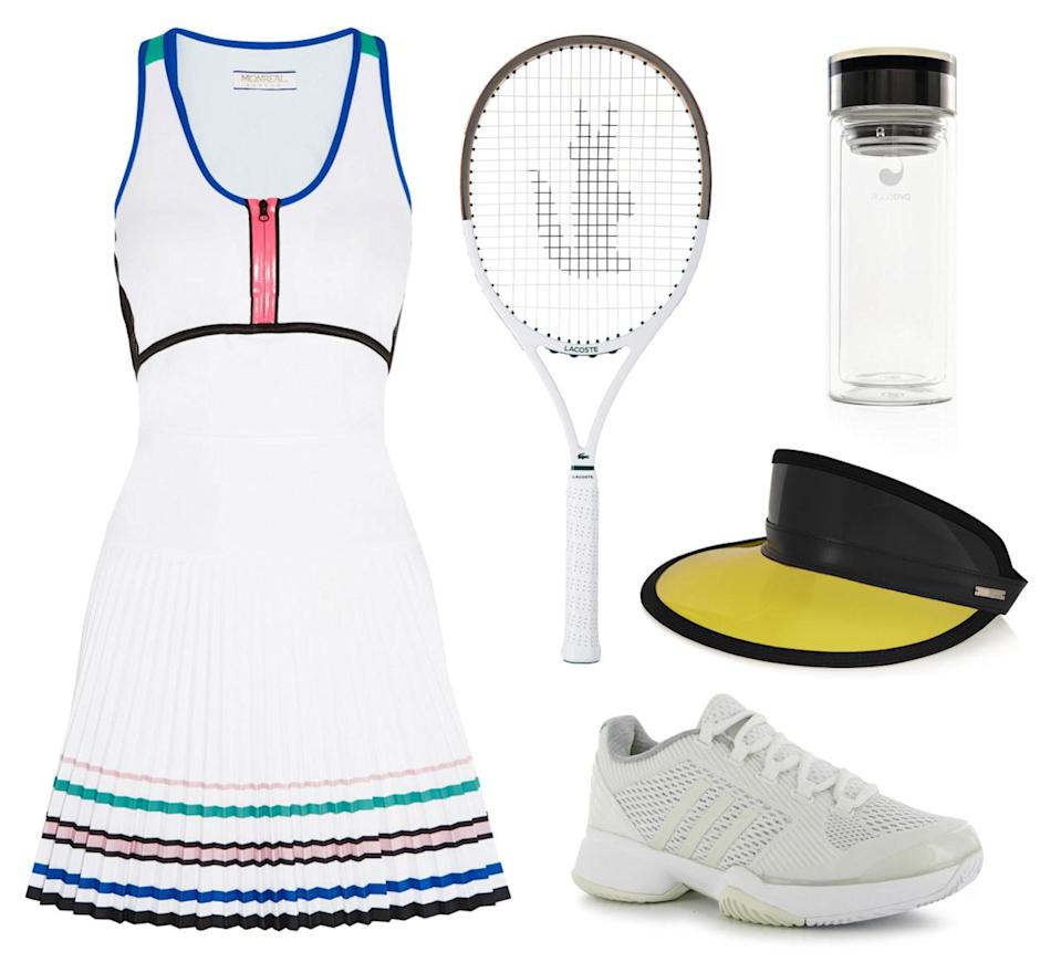 <p>If competitive sports are more your thing, why not try a game of tennis? You'll learn to serve like Serena while looking stylish like Kate Moss in this fun and flirty mesh dress from Monreal London. Don't forget your Fendi visor to keep those UVA rays at bay.</p>