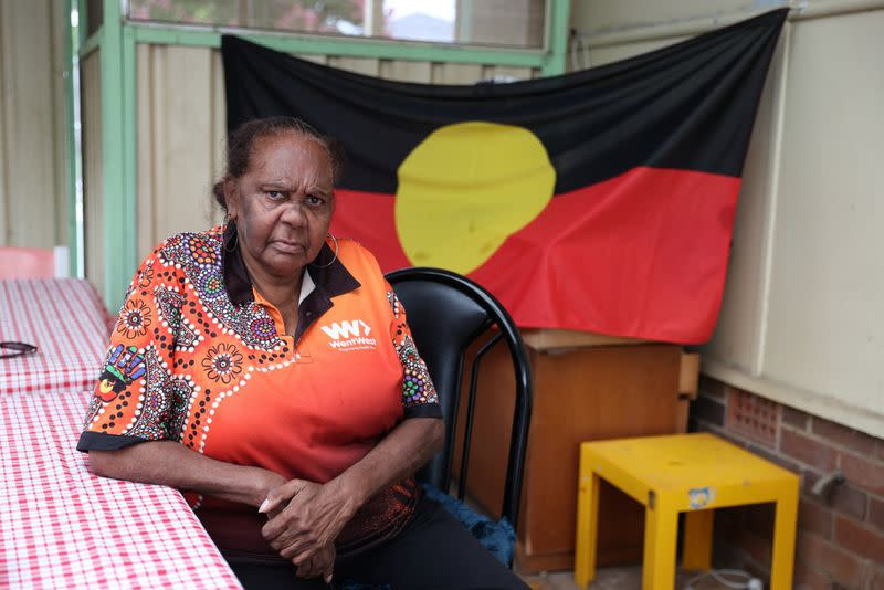 Indigenous Muruwari elder Rita Wright is seen at her home in Sydney