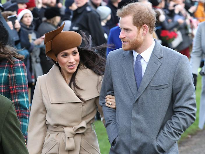 meghan markle harry christmas 2017