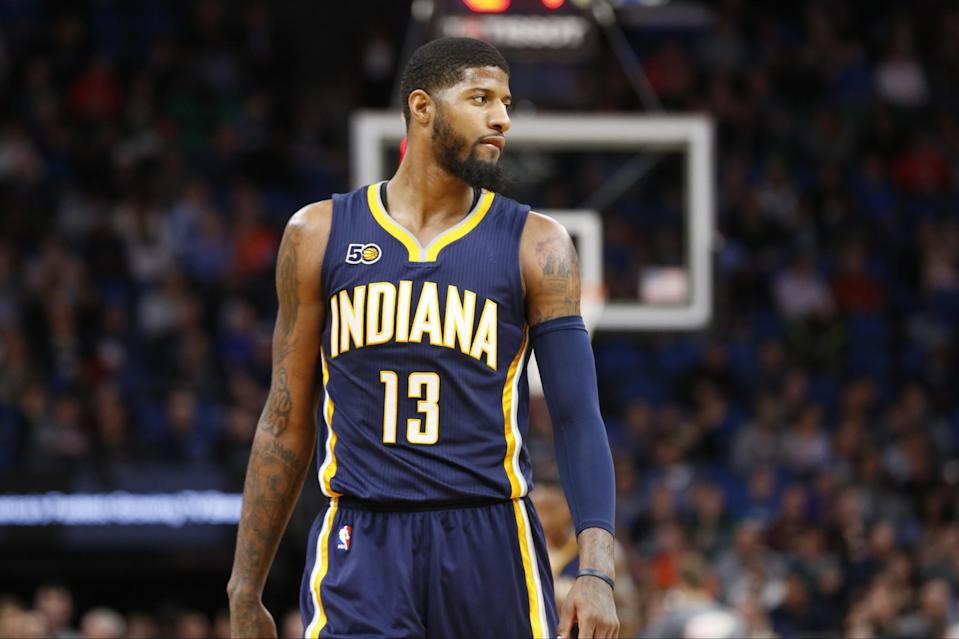 Paul George gets the lay of the land. (AP)