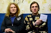 Margarita Yudina and her 20-year-old son Rostislav, who has been summoned for military service