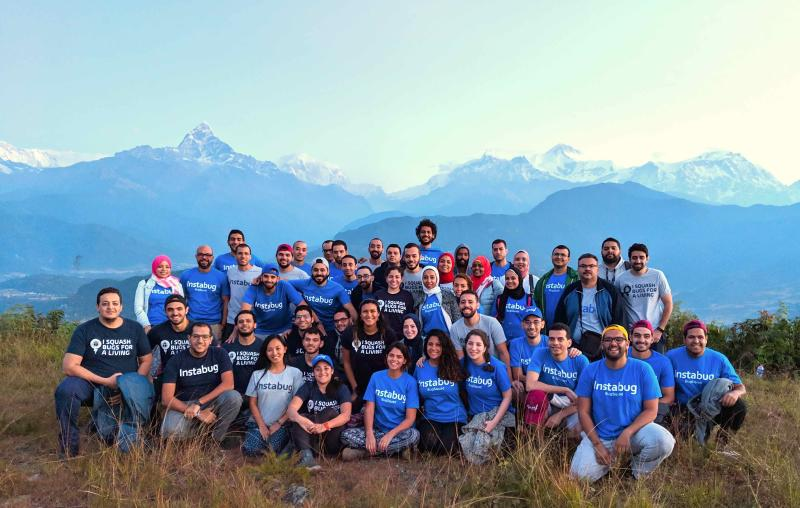 Instabug Team in Retreat in Nepal