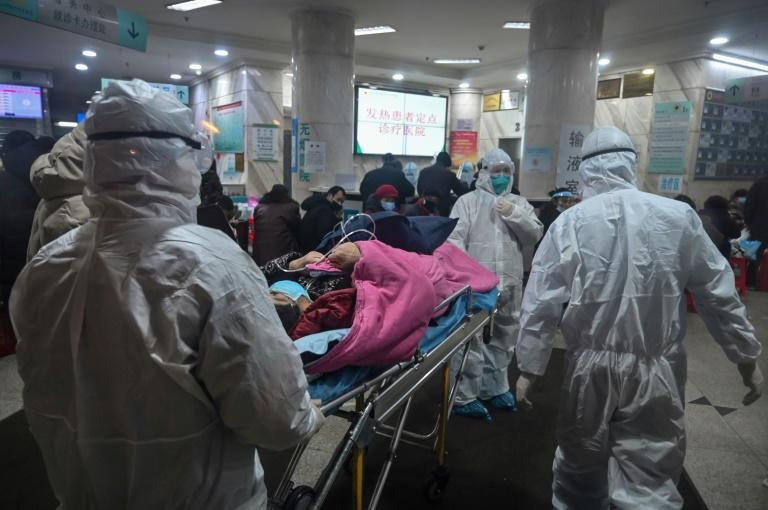 The Red Cross hospital in Wuhan in January