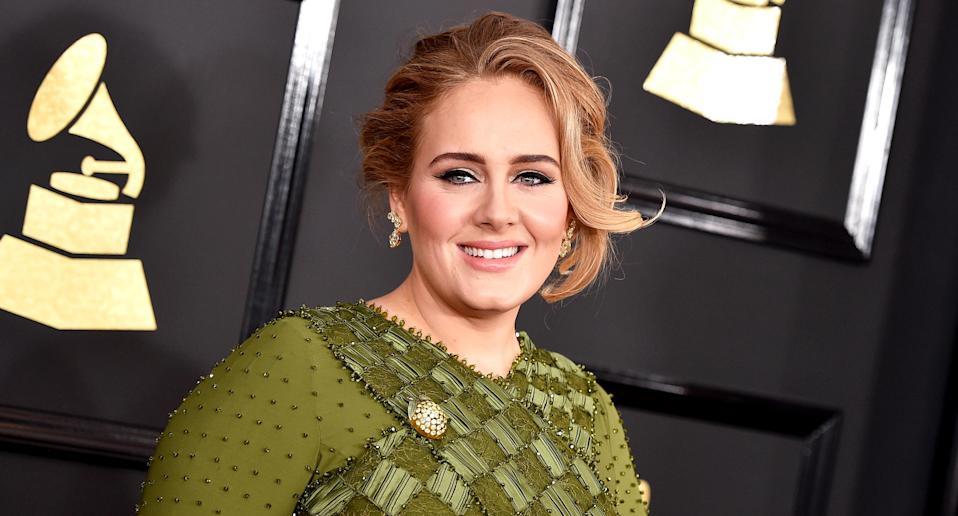 Adele at the Grammy Awards on Feb. 12, 2017, in Los Angeles. (Photo: John Shearer/WireImage)