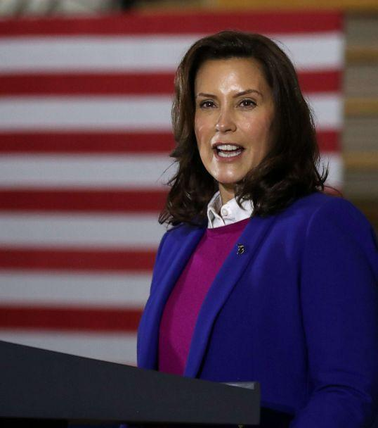 PHOTO: Gov. Gretchen Whitmer on Oct. 16, 2020 in Southfield, Mich. (Chip Somodevilla/Getty Images, FILE)