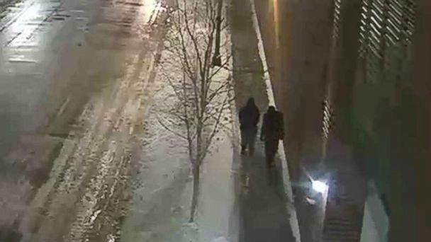 PHOTO: Chicago police are looking to identify and interview the two people pictured, who were walking in the area where Jussie Smollett said he was attacked. (Chicago Police Department)