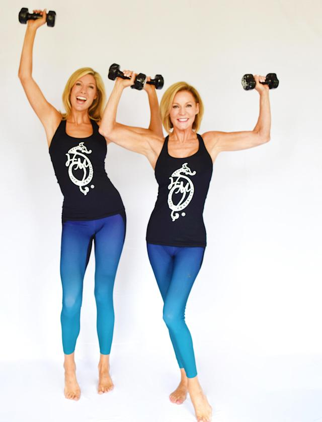 Liz Hilliard, right, and her daughter, Clary, can help you energize your fitness routine in a matter of minutes.