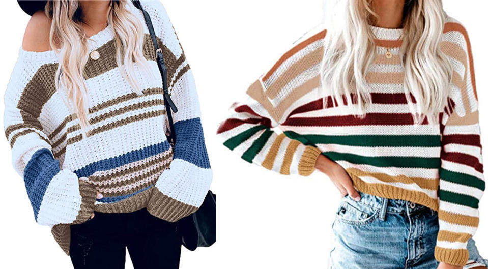 Kirundo Stripe Color Block Sweater (Photo: Amazon)
