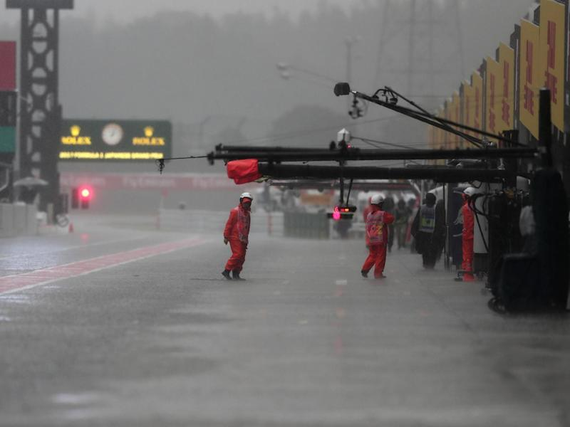 The Japanese Grand Prix is under threat from Super Typhoon Hagibis: AFP/Getty