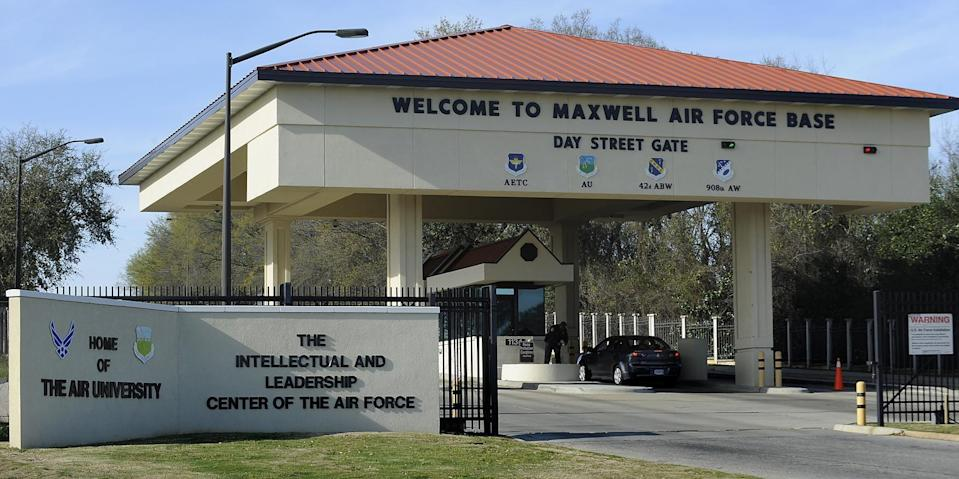 The Day Street Gate at Maxwell Air Force Base in Montgomery, Ala.