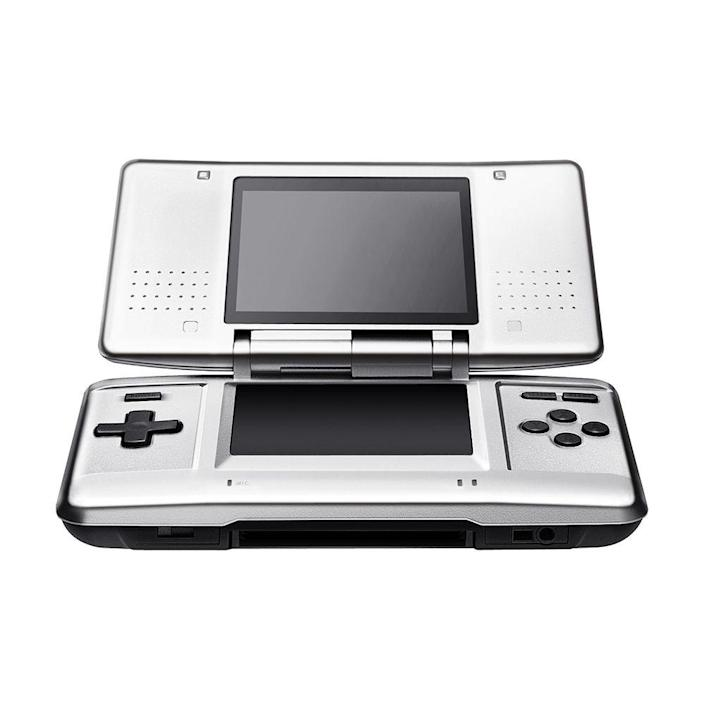 """<p><a class=""""link rapid-noclick-resp"""" href=""""https://www.amazon.com/Nintendo-New-3DS-XL-Black/dp/B00S1LRX3W/ref=sr_1_1?tag=syn-yahoo-20&ascsubtag=%5Bartid%7C10063.g.34738490%5Bsrc%7Cyahoo-us"""" rel=""""nofollow noopener"""" target=""""_blank"""" data-ylk=""""slk:BUY NOW"""">BUY NOW</a><br></p><p>The Nintendo DS introduced the dual screen that changed handheld gaming. Compared to the previous Nintendo Game Boys, the DS had a screen on top and bottom, with the bottom one being an interactive touchscreen. It was a huge seller for Nintendo, and it led them to their follow-up, the Nintendo 3DS, which displayed images in stereoscopic 3D.</p>"""
