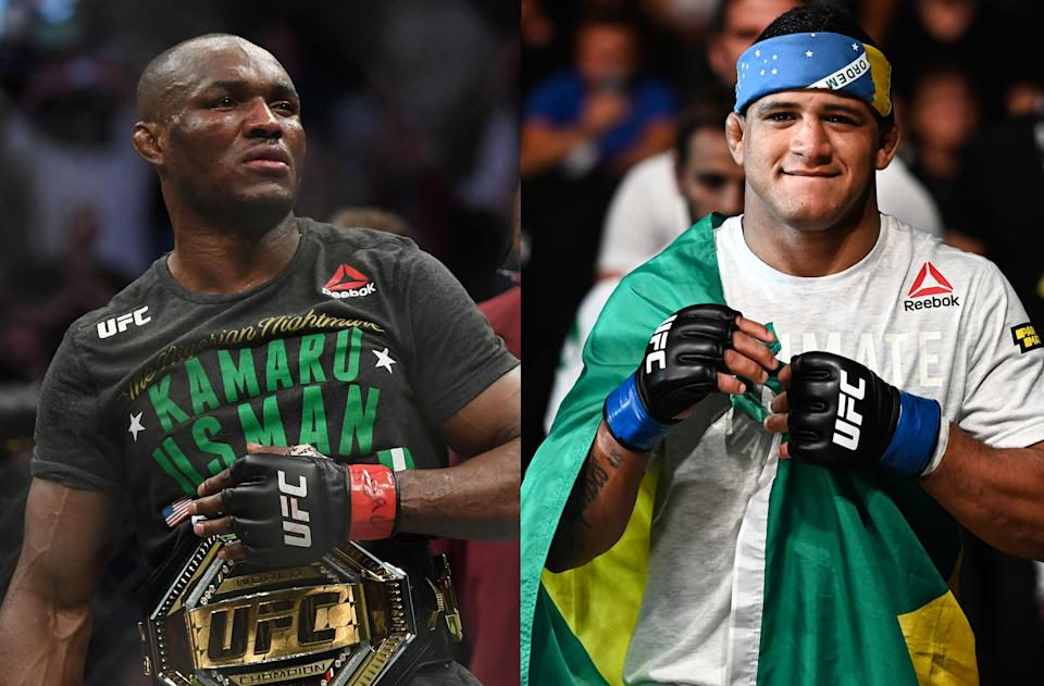 UFC welterweight champion Kamaru Usman will face former training partner Gilbert Burns at UFC 258 on Saturday, Feb. 13 in Las Vegas.