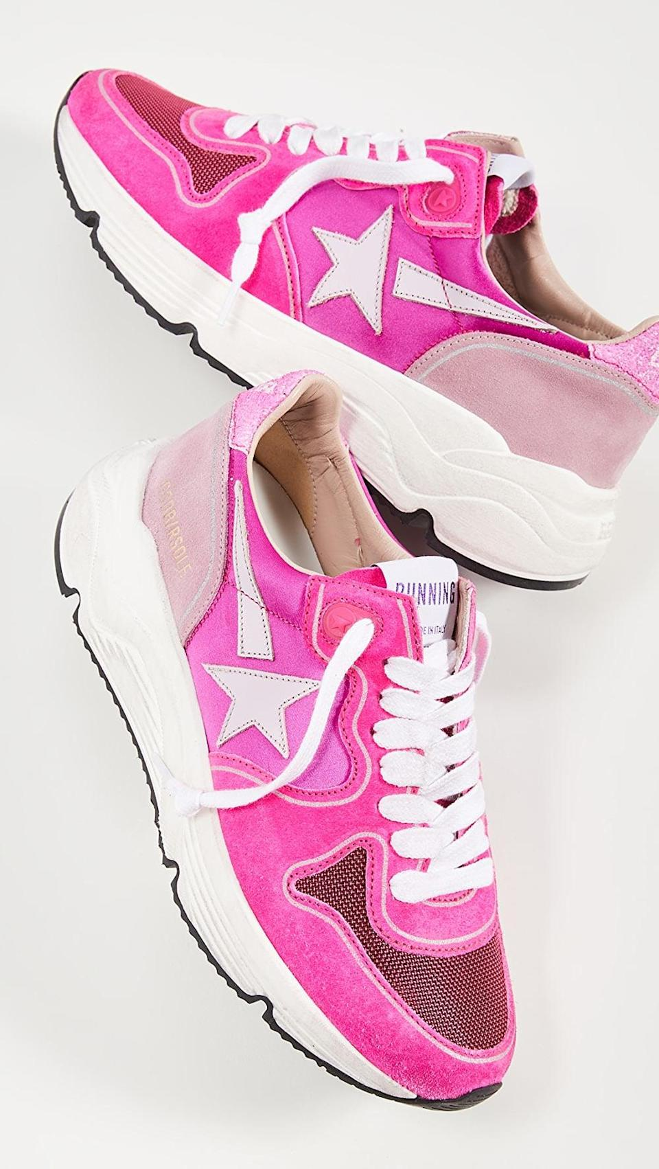 "<p>How cool are these <a href=""https://www.popsugar.com/buy/Golden-Goose-Running-Sole-Sneakers-584512?p_name=Golden%20Goose%20Running%20Sole%20Sneakers&retailer=shopbop.com&pid=584512&price=560&evar1=fab%3Aus&evar9=47571677&evar98=https%3A%2F%2Fwww.popsugar.com%2Ffashion%2Fphoto-gallery%2F47571677%2Fimage%2F47571941%2FGolden-Goose-Running-Sole-Sneakers&list1=shopping%2Cshoes%2Csneakers%2Csummer%2Csummer%20fashion%2Cfashion%20shopping&prop13=mobile&pdata=1"" rel=""nofollow noopener"" class=""link rapid-noclick-resp"" target=""_blank"" data-ylk=""slk:Golden Goose Running Sole Sneakers"">Golden Goose Running Sole Sneakers</a> ($560)?</p>"