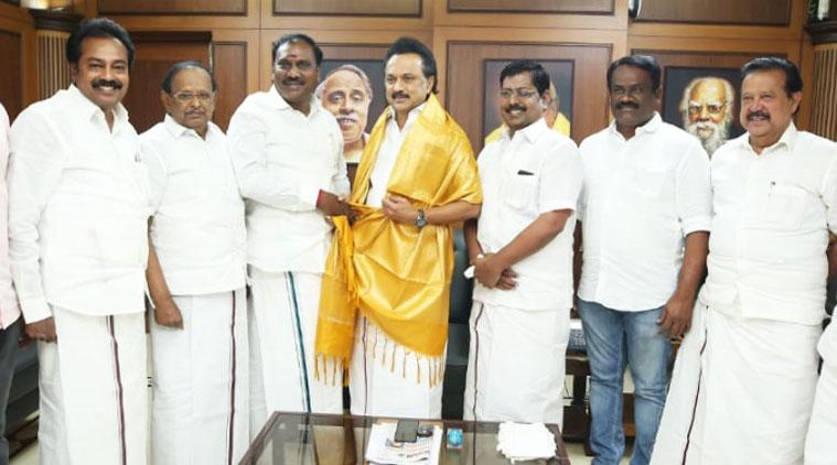 Days after praising MK Stalin, Tamil Nadu BJP vice-president joins DMK