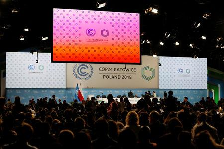Participants take part in plenary session during COP24 UN Climate Change Conference 2018 in Katowice, Poland December 13, 2018. REUTERS/Kacper Pempel