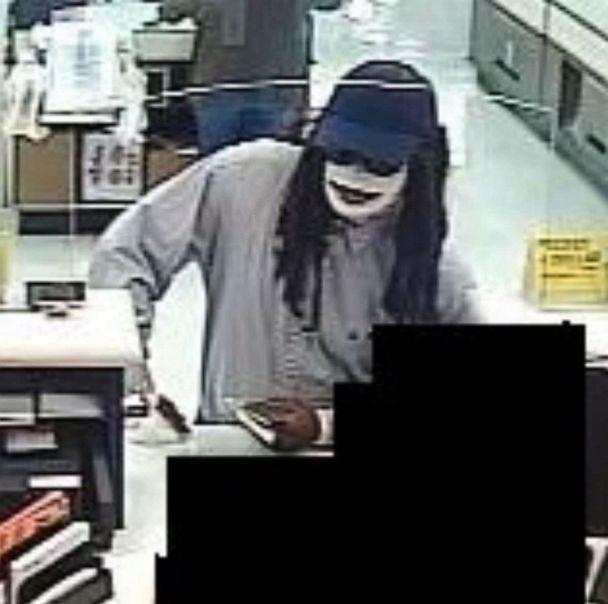 PHOTO: In this screen grab obtained by the FBI and posted to their Facebook account, a suspect is dressed like a mummy during a robbery. (FBI Houston/Facebook)