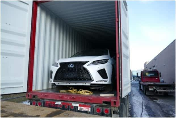 York police have seized 73 stolen vehicles investigators say were set to be sold overseas. The vehicles were stolen from the GTA, drivendirectly tothePort of Montreal or loaded into a sea container in Toronto and transported to Montreal by train, police say. They were then loaded onto ships and delivered to buyers in Africa or the United Arab Emirates. (York Regional Police - image credit)