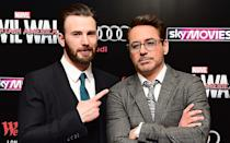 Chris Evans and Robert Downey Jr.'s characters are at loggerheads in the new film. Credit: PA