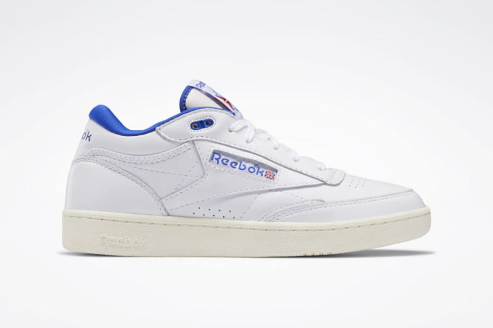 Reebok Club C Mid 2 Vintage in the white and bright cobalt colorway. - Credit: Courtesy of Reebok