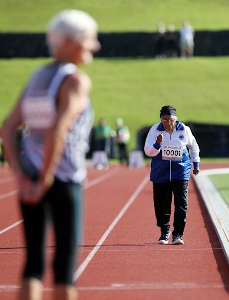 Man Kaur of India took up athletics eight years ago, at the tender age of 93