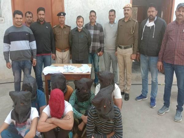 Haryana Police busts two online cyber fraud gangs in Sirsa (Photo ANI)