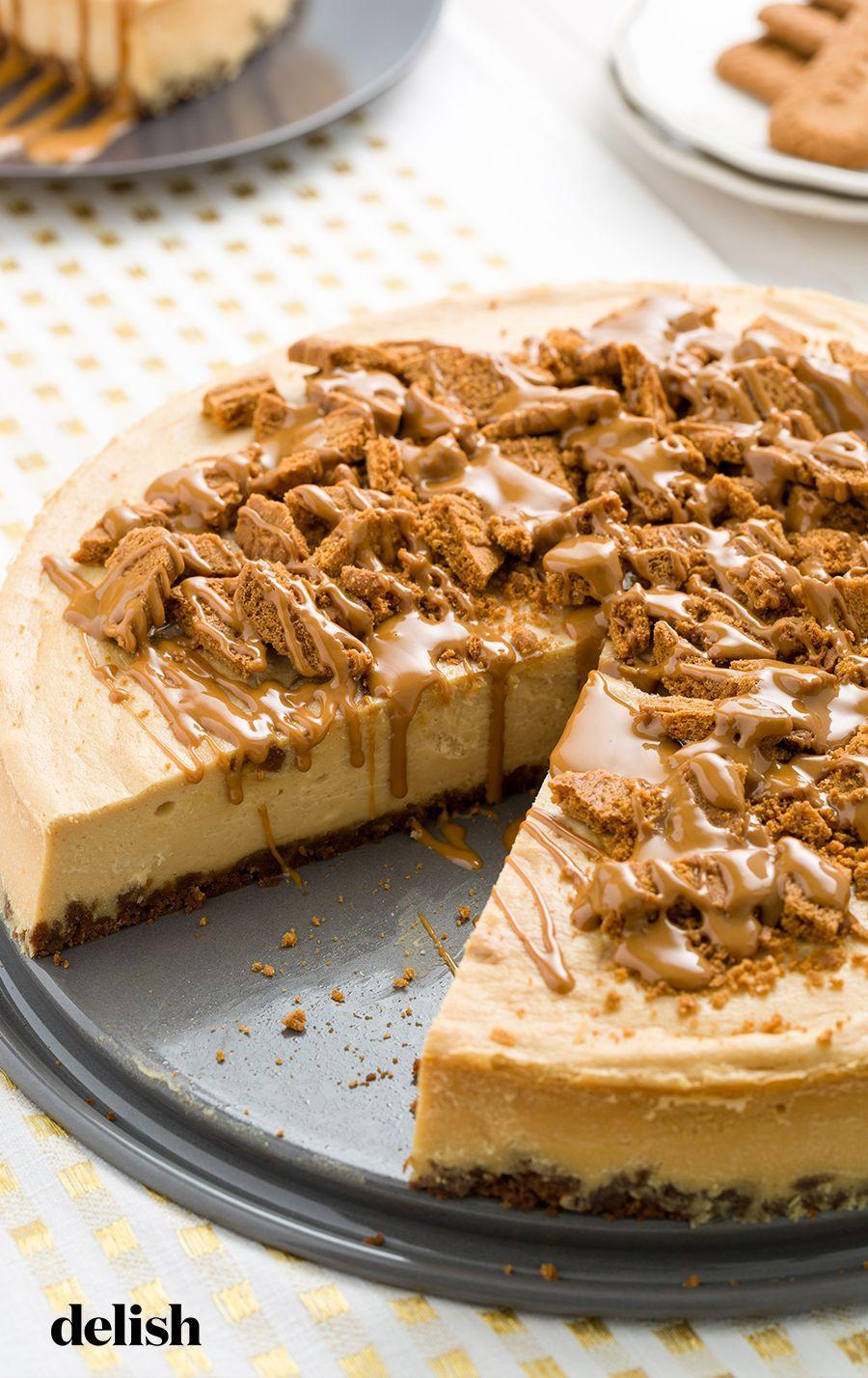 """<p>Speculoos fans will flip over this cheesecake.</p><p>Get the recipe from <a href=""""https://www.delish.com/cooking/recipe-ideas/recipes/a45318/cookie-butter-cheesecake/"""" rel=""""nofollow noopener"""" target=""""_blank"""" data-ylk=""""slk:Delish"""" class=""""link rapid-noclick-resp"""">Delish</a>.</p>"""