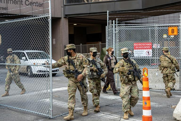 Members of the National Guard are providing security at the George Floyd murder trial
