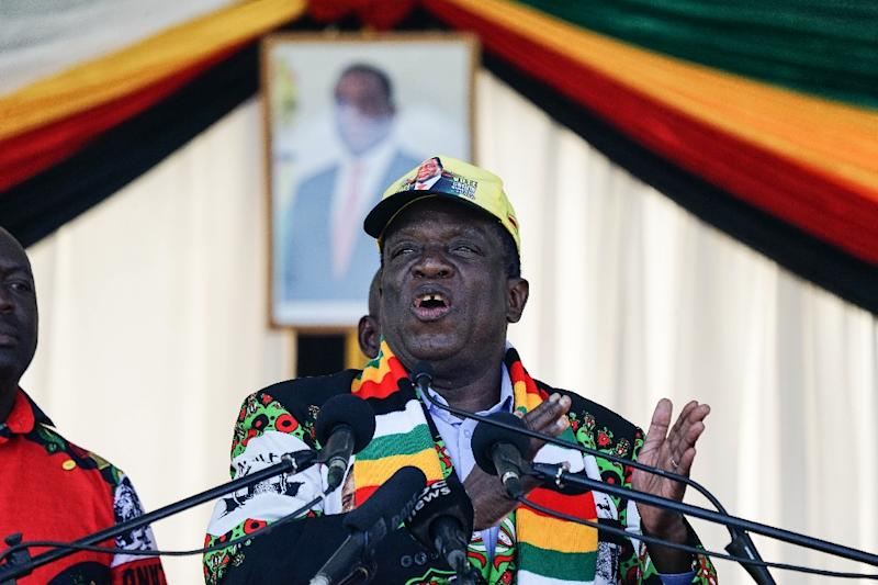 Zimbabwe President Emmerson Mnangagwa, pictured in June 2018, said the space agency would use technology such as satellites to improve farming, mineral explanation and other activities
