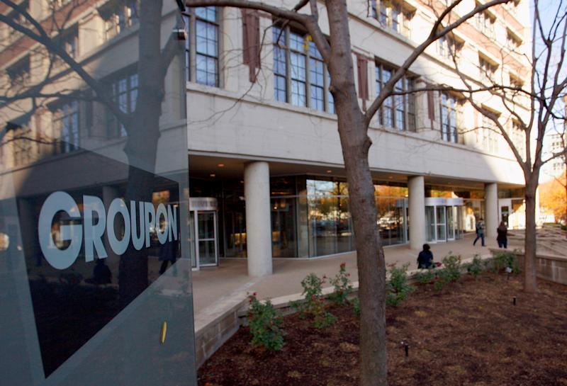 Groupon shares jump as company looking to sell itself
