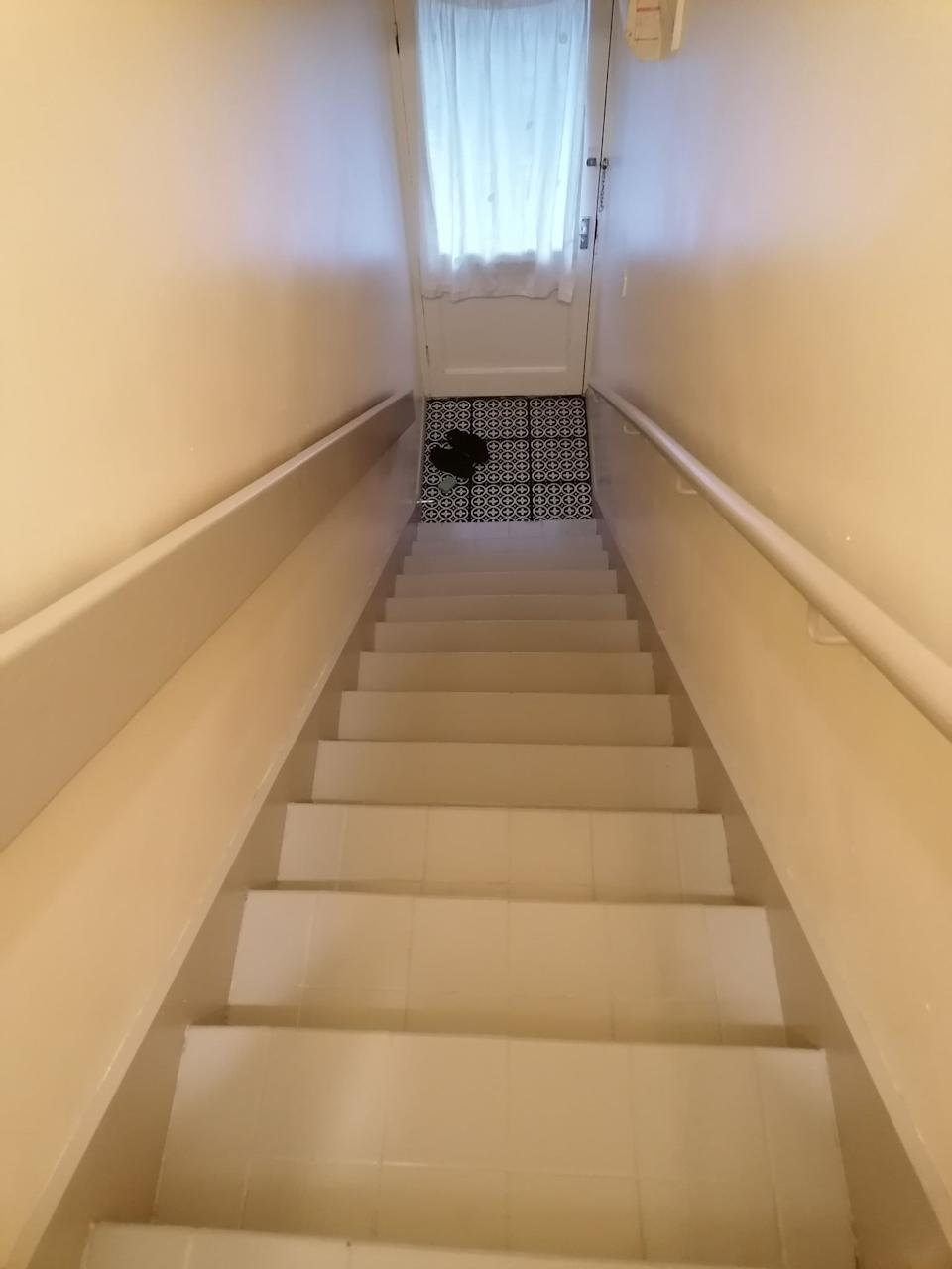 The view from the top of the stairs after the makeover. (Supplied latestdeals.co.uk)