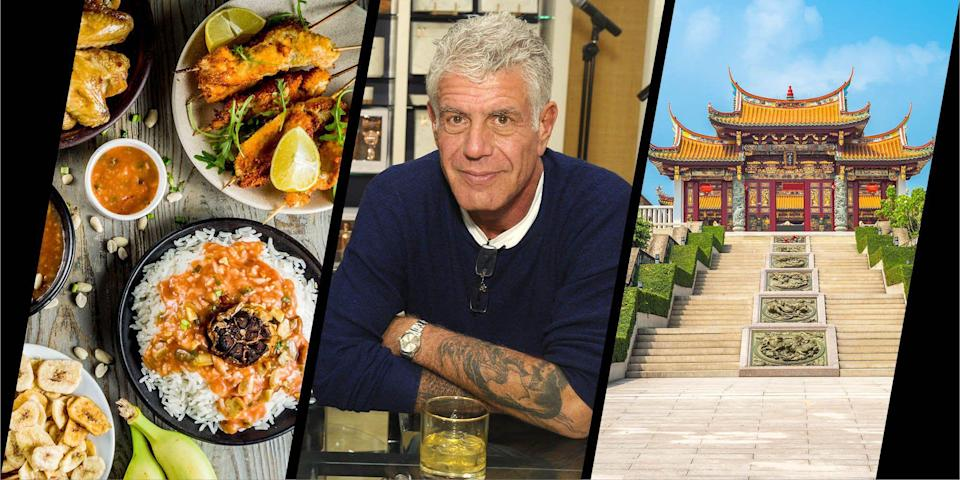 """<p>Ever let your appetite guide your global travel? Anthony Bourdain did. The revered wordsmith, traveller and epicurean passed away in 2018, but left in his wake decades of intrepid and insightful journeys across his many books and his hit show, Parts Unknown. Now, his longtime assistant (or 'lieutenant' as Bourdain called her) Laurie Woolever, is bringing to life the book they were working on before his tragic death. World Travel: An irreverent Guide collates Bourdain's wry wisdom and advice for eating your way across the globe. Here, we select five of his most unexpected destinations to add to your bucket list once restrictions are lifted.</p><p> <strong><a href=""""https://www.amazon.co.uk/World-Travel-Irreverent-Anthony-Bourdain/dp/1526630230?tag=hearstuk-yahoo-21&ascsubtag=%5Bartid%7C1927.g.35887346%5Bsrc%7Cyahoo-uk"""" rel=""""nofollow noopener"""" target=""""_blank"""" data-ylk=""""slk:World Travel: An Irreverent Guide by Anthony Bourdain"""" class=""""link rapid-noclick-resp"""">World Travel: An Irreverent Guide by Anthony Bourdain</a> with Laurie Woolever is published on 20 April 2021</strong>. </p>"""