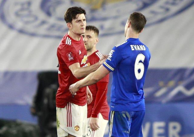 Harry Maguire made his 48th appearance of the season for club and country against former club Leicester