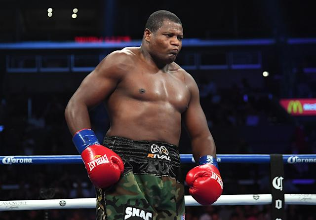 Luis Ortiz of Cuba defeated Razvan Cojanu of Romania in their heavyweight fight at Staples Center on July 28, 2018, in Los Angeles. (Getty Images)