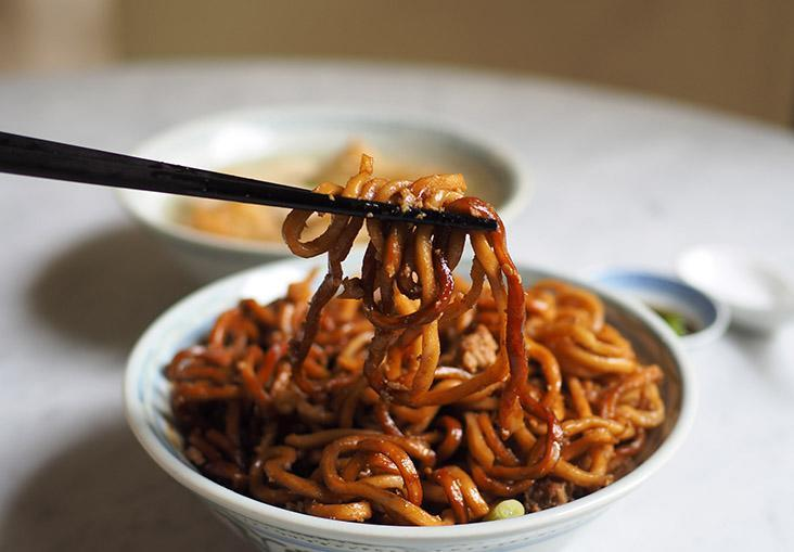 The thick noodle strands have a nice bouncy texture that absorbs the sauce well