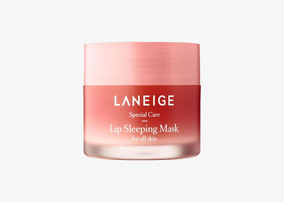 "Winter is approaching and that means dry skin, dry hair, dry everything. Lips tend to dry out quickly in colder temperatures, so it's essential to put in extra effort in caring for them. This leave-on lip sleeping mask will help soothe and moisturize your lips overnight, leaving them buttery soft by morning. Its formula includes Moisture Wrap technology, which uses hyaluronic acid and minerals to form a protective film over the lips to lock in moisture and active ingredients. Plus, it smells so good thanks to its range of fragrances, including gummy bear and mint chocolate. $22, Sephora. <a href=""https://www.sephora.com/product/lip-sleeping-mask-P420652"" rel=""nofollow noopener"" target=""_blank"" data-ylk=""slk:Get it now!"" class=""link rapid-noclick-resp"">Get it now!</a>"