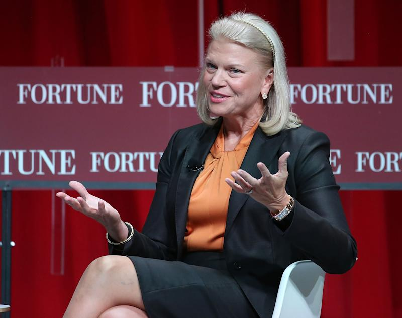 Ginni Rometty, Chairman, President and CEO of IBM speaks during a Fortune summit.
