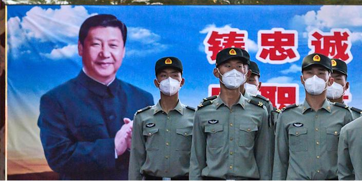 China soldiers Xi Jinping Beijing