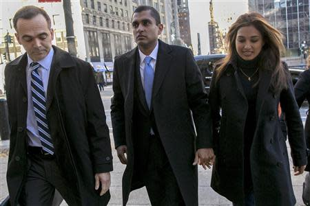 Former SAC Capital portfolio manager Mathew Martoma arrives at the Manhattan Federal Courthouse in New York