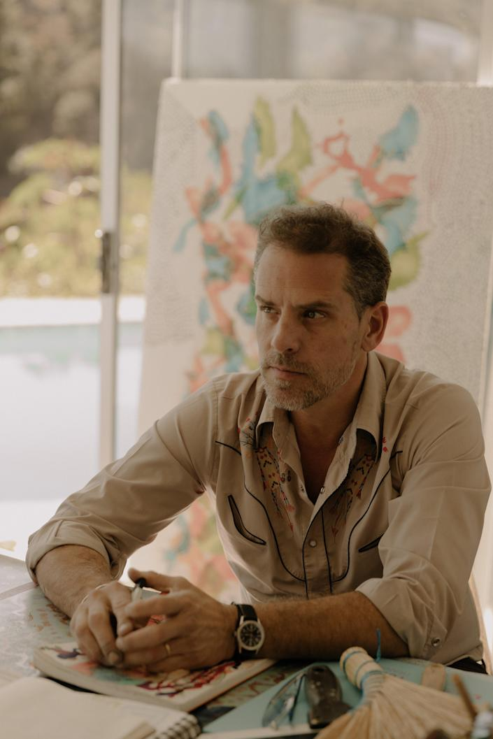 Hunter Biden, the former vice president's son, at his art studio in Los Angeles, Nov. 1, 2019. (Elizabeth Weinberg/The New York Times)