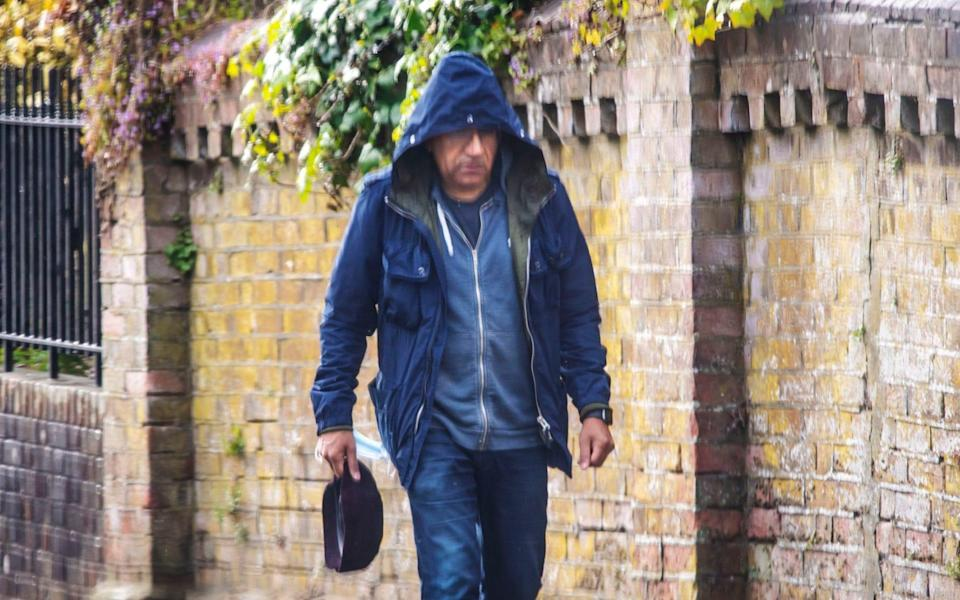 Commission Fea0100274 Assigned Daily Telegraph Section: DT News Pic Shows Martin Bashir leaving home in Winchester to go to a car before being picked . BBC report into his Diana Panorama interview due on Thursday this week. Thanks. Contacts: - Paul Grover/The Telegraph