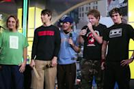 <p>New Found Glory performed on <b>TRL</b> in 2003.</p>