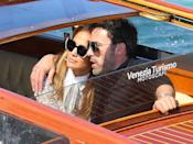 <p>Lopez leaned in as Affleck wrapped an arm around her shoulder ahead of their arrival. </p>