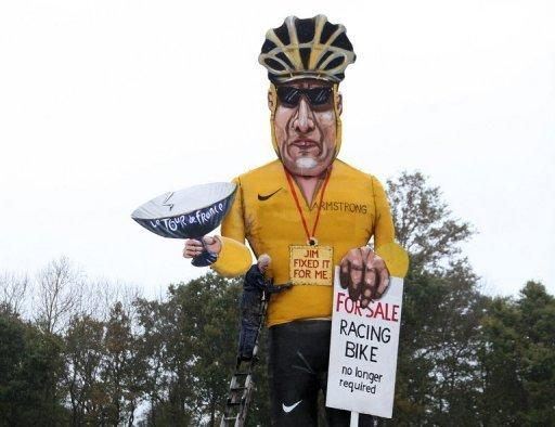 The Armstrong effigy will be burned at Bonfire Night celebrations on Saturday