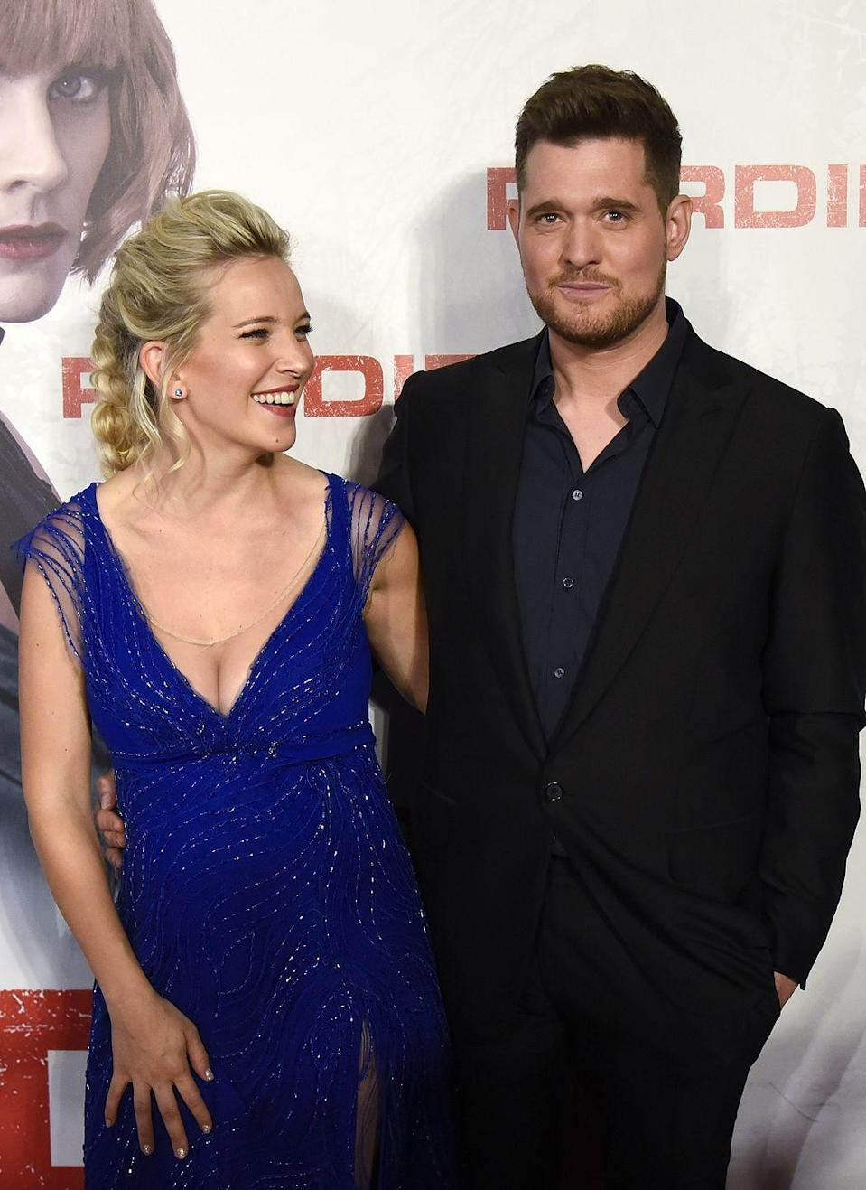 """<p><strong>Name: Vida Amber Betty</strong></p><p>Following <a href=""""https://www.cosmopolitan.com/uk/entertainment/a22568977/michael-buble-wife-given-birth-baby-girl/"""" rel=""""nofollow noopener"""" target=""""_blank"""" data-ylk=""""slk:the birth of their third child"""" class=""""link rapid-noclick-resp"""">the birth of their third child</a>, Michael's rep confirmed to <a class=""""link rapid-noclick-resp"""" href=""""https://people.com/babies/michael-buble-luisana-lopilato-name-daughter-vida-amber-betty/"""" rel=""""nofollow noopener"""" target=""""_blank"""" data-ylk=""""slk:People"""">People</a> that their newborn daughter was named Vida Amber Betty - with 'Vida' meaning 'Life' in Luisana's native Spanish. Amber was after the Bublé's mum Amber Santagà and Betty after his wife's mum Beatriz Lopilato. </p>"""