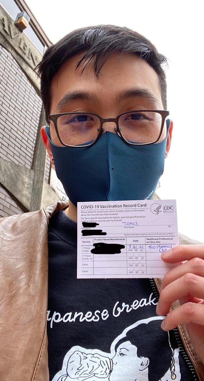 Travis Chi Wing Lau hopes for more compassion from people as COVID-19 cases lower.