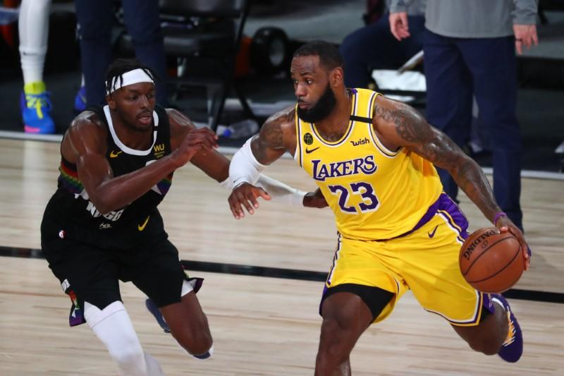 Davis, James power Lakers to verge of NBA Finals