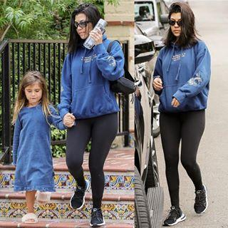 Kourtney Kardashian wearing Adidas Arkyn Boost Casual Shoes