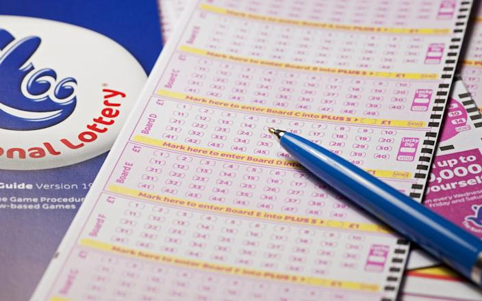 National Lottery slips. (Photo by: Loop Images/Universal Images Group via Getty Images) - Loop Images/Getty