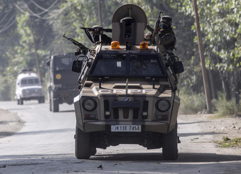 India says Pakistani fire kills 3 soldiers in Kashmir